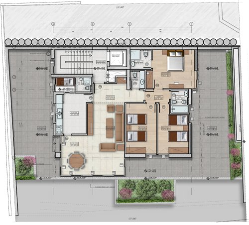 Double Residence Blueprint
